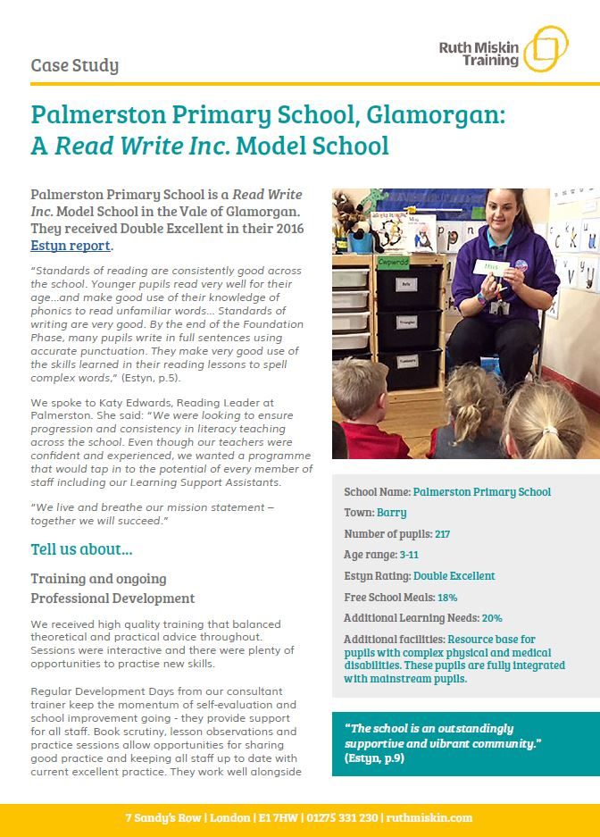 Read Write Inc.: Palmerston Primary School