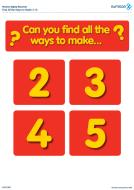 Numicon Find all the ways to make Numbers 2-10 (PDF)
