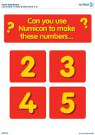 Use Numicon Shapes to make numbers 2-10 (PDF)