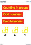 Numicon Counting in Multiples 3 to 8 (PDF)