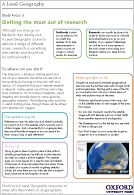 A Level Geography: Getting the most out of research