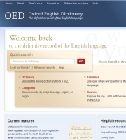 Oxford English Dictionary relaunched online