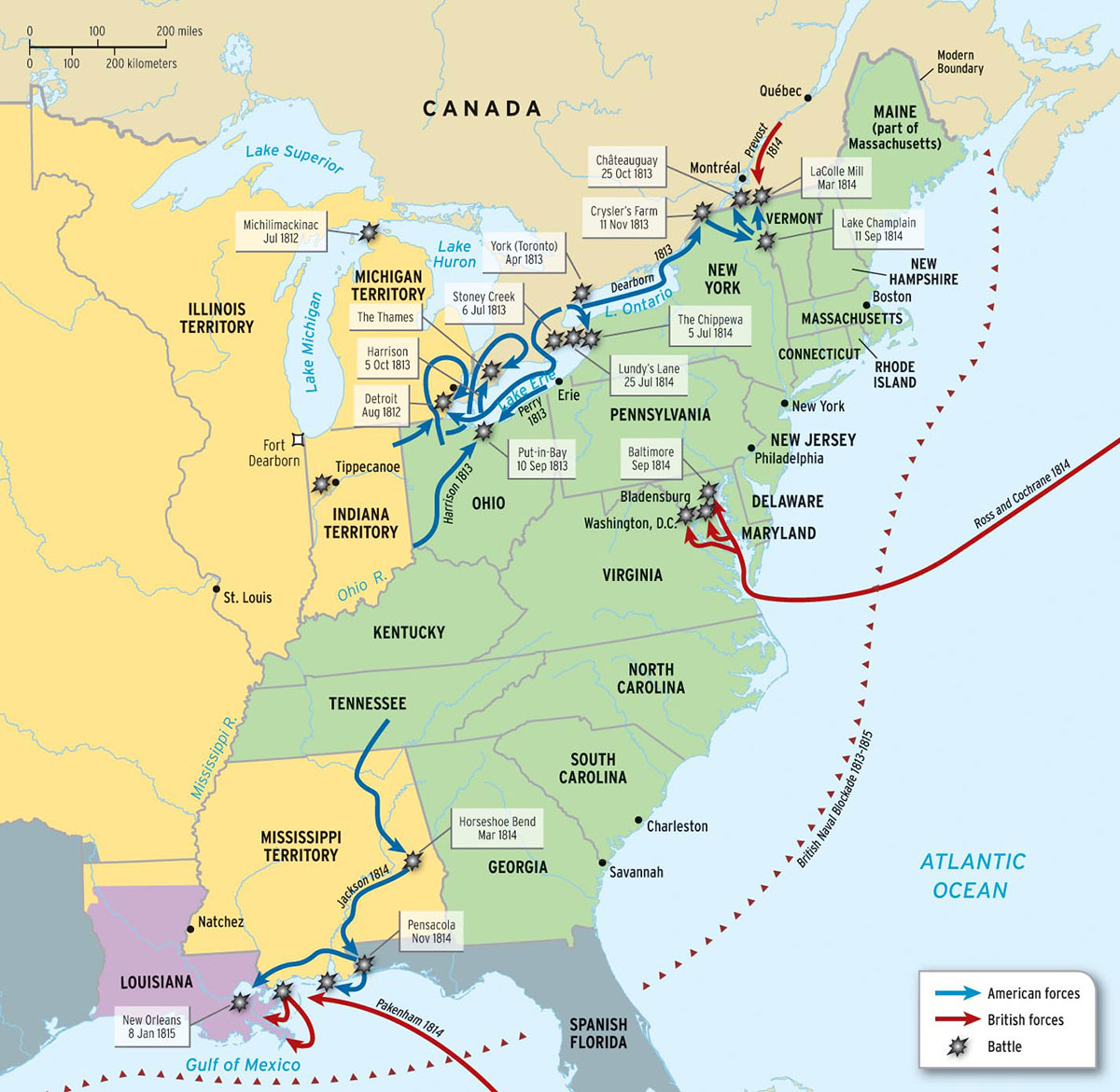 map 8 2 the war of 1812
