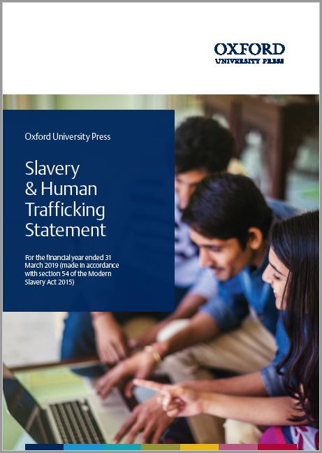 Modern Slavery Statement cover