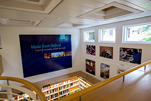 Interior photo of the OUP bookshop