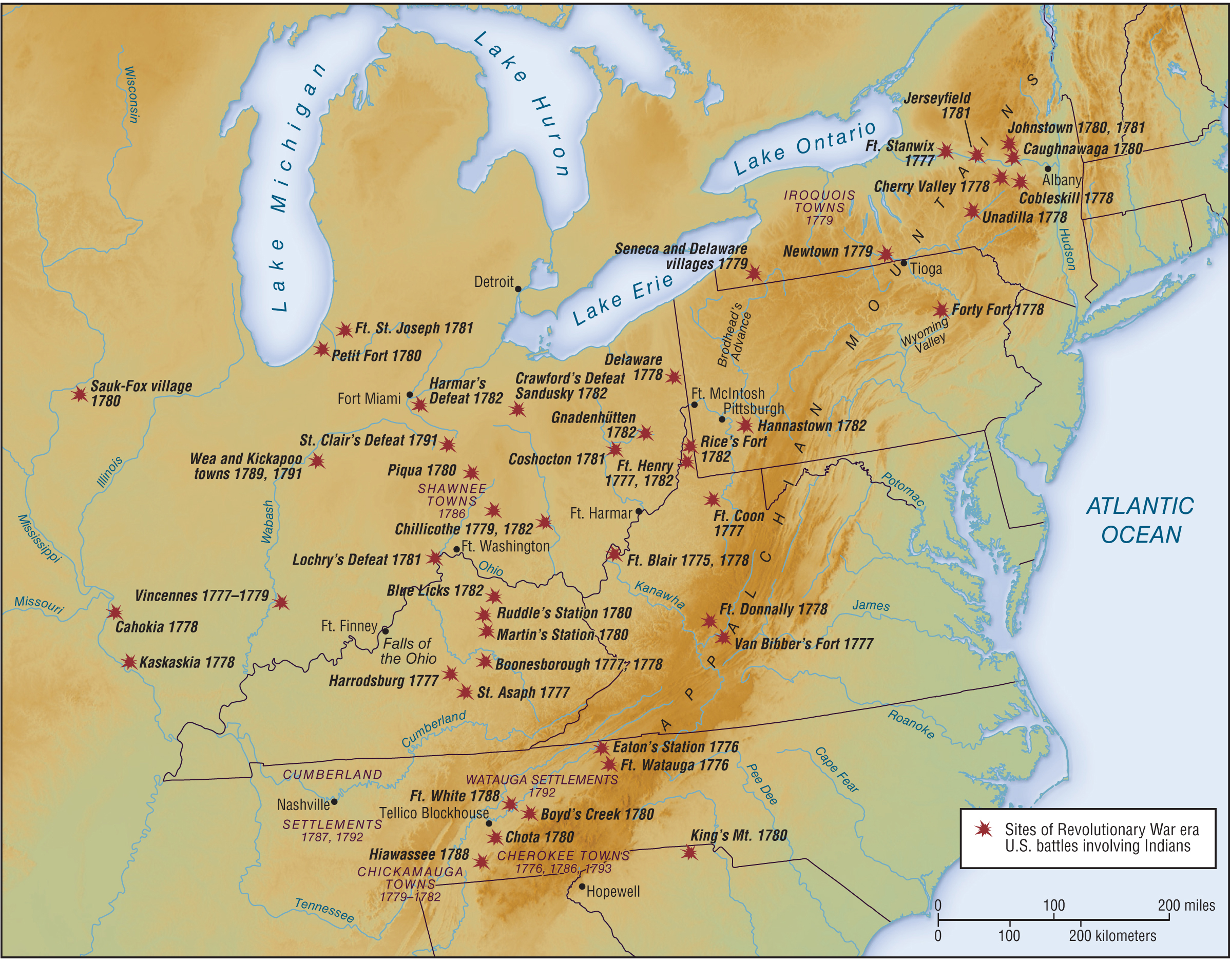 Maps - Map of us in 1776