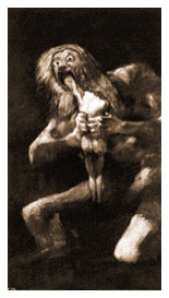 Saturn Devouring One of his Children by Goya