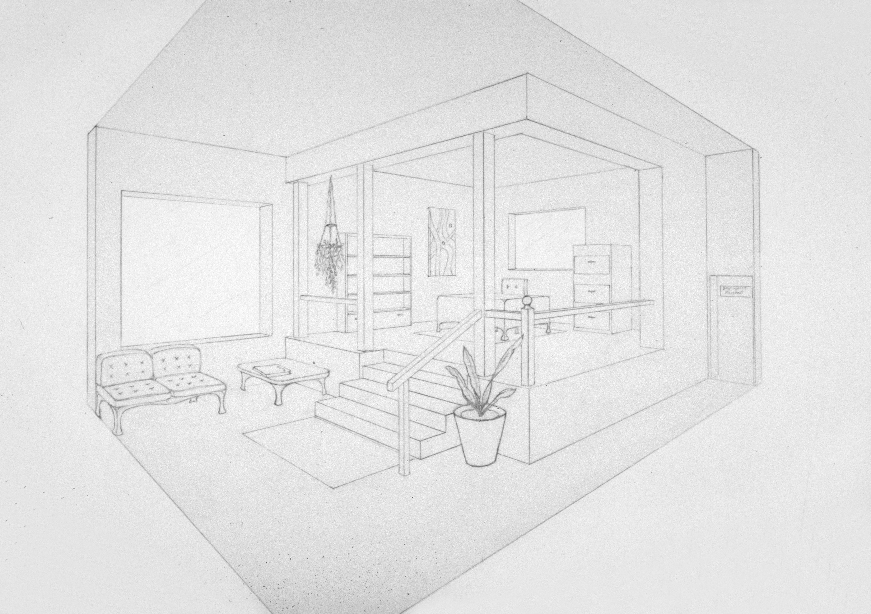 Inspiration 90 living room 2 point perspective design for Living room 2 point perspective