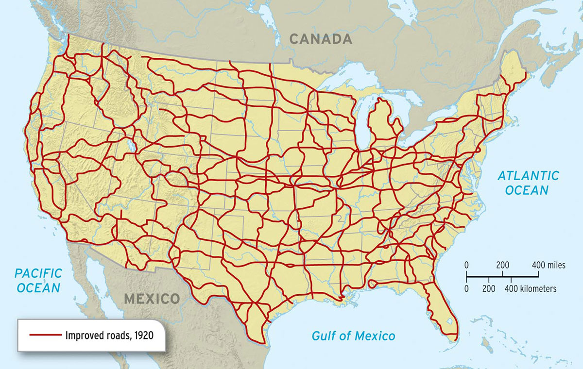 Chapter - 1920 map of us
